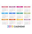 Calendar for 2018 template design week starts