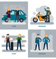 car repair square concept vector image vector image