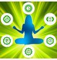 Chakras and spirituality symbols vector image