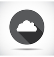 Cloud Flat Icon with long Shadow vector image vector image