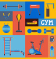 collage gym icons set of vector image