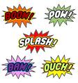 Comic book balloons vector image vector image