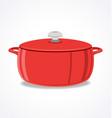 crock pot roast cooker with lid vector image