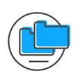 data stream icon with folder sign vector image