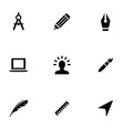 design 9 icons set vector image
