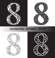 Eight Geometric vector image