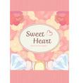 elegant cute sweet pastel peach pink heart shape vector image vector image