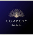 elegant luxury golden beauty bird peacock logo vector image vector image