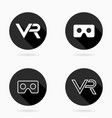 fine flat icon with vr logo vector image