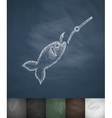 fish on the hook icon Hand drawn vector image