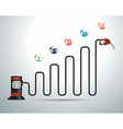 Gasoline pump nozzle with business graph vector image vector image