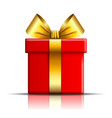 gift box icon surprise present red-gold template vector image vector image