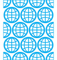 Globes seamless background planets conceptual vector image vector image