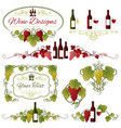 grapes and wine design vector image
