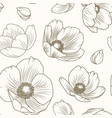hellebore poppy floral brown beige pattern texture vector image vector image