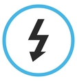High Voltage Flat Rounded Icon vector image