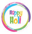 holi festival a spring festival colors vector image vector image