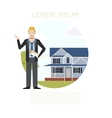 Home building banner1 vector image