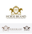 horse brand logo design vector image vector image