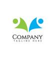 human logo company template design vector image