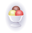 Icecream in a bowl vector | Price: 1 Credit (USD $1)