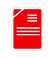 icon sticker realistic design on paper documents vector image vector image