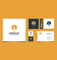inspirational modern logo and business card vector image