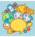 Kawaii space background Doodles with pretty vector image vector image