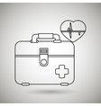 kit medical icon design vector image vector image