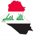 map iraq with national flag vector image