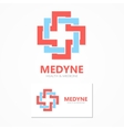 Medical logo design template vector image vector image