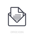 message outline icon office sign vector image vector image