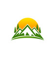 montain logo design vector image