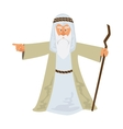 Moses standing for Passover vector image