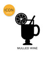 mulled wine icon isolated flat style vector image vector image