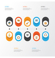 music flat icons set collection of male ear vector image vector image
