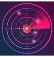 Neon Radar vector image