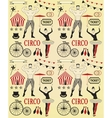 Pattern of the circus vector image vector image