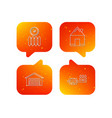 real estate garage and heat radiator icons vector image vector image