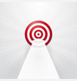 red target with a white arrow vector image