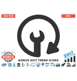Repeat Service Flat Icon With 2017 Bonus Trend vector image