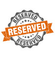 reserved stamp sign seal vector image