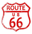route 66 stamp vector image vector image