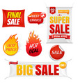 sale banners big isolated background vector image vector image