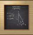 school chalkboard on wooden background vector image