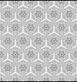 seamless abstract pattern based on japanese patter vector image