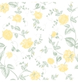Seamless texture of pastel yellow roses for vector image vector image