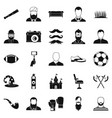 selfie icons set simple style vector image