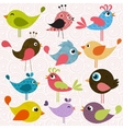 Set of patterned birds vector image vector image