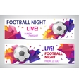Set of sport football banners vector image